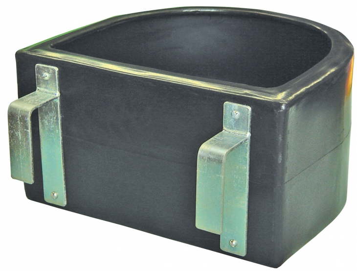30 Litre Oval Bin (Half Round) With Brackets