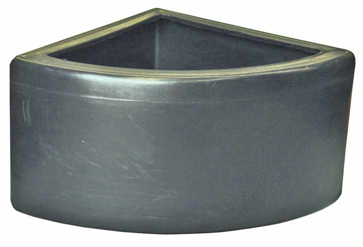 30 Litre Corner Bowl Straight Sides With Brackets